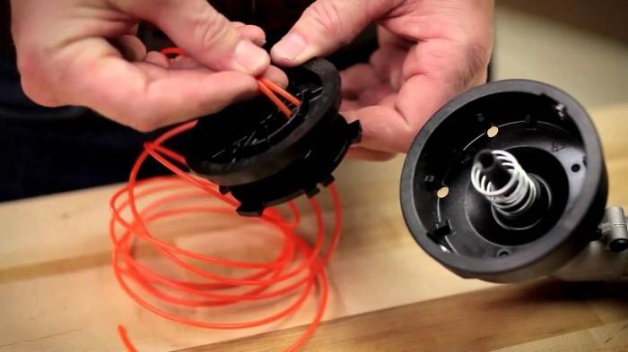 инструкция по намотке лески для мотокосы - фото 3