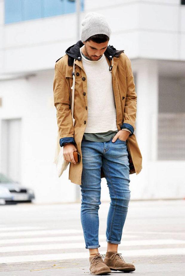 как одеваются стильные мужчины зимой фото